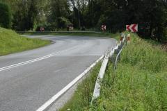 Chodnik DW 980 w Rzepienniku Strzyżewskim przed