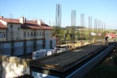 Sala gimnastyczna w Rzepienniku Biskupim w trakcie