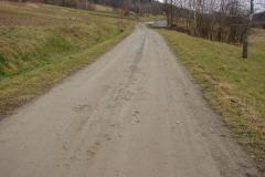 Droga Turza Góry (koło krzywej drogi) przed