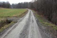 Droga Rzepiennik Suchy koło pomnika przed
