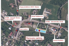 11 planowany parking w centrum  Rzepiennika Suchego