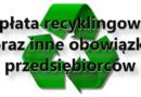 Opłata recyklingowa oraz inne obowiązki przedsiębiorców