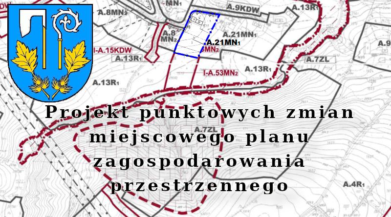 Projekt punktowych zmian miejscowego planu zagospodarowania przestrzennego Gminy Rzepiennik Strzyżewski.