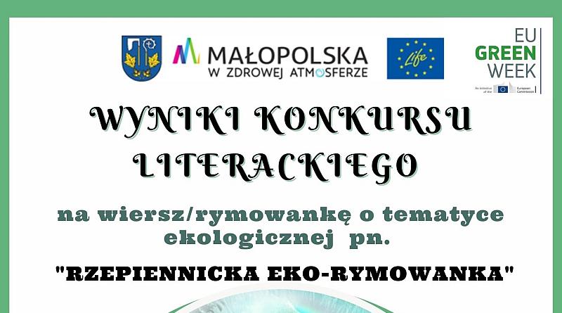 """Wyniki konkursu literackiego """"RZEPIENNICKA EKO-RYMOWANKA"""""""