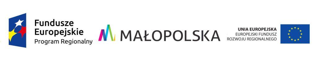 Loga: Fundusze Europejskie Program Regionalny. Małopolska. Unia Europejska. Europejski Fundusz Rozwoju Regionalnego