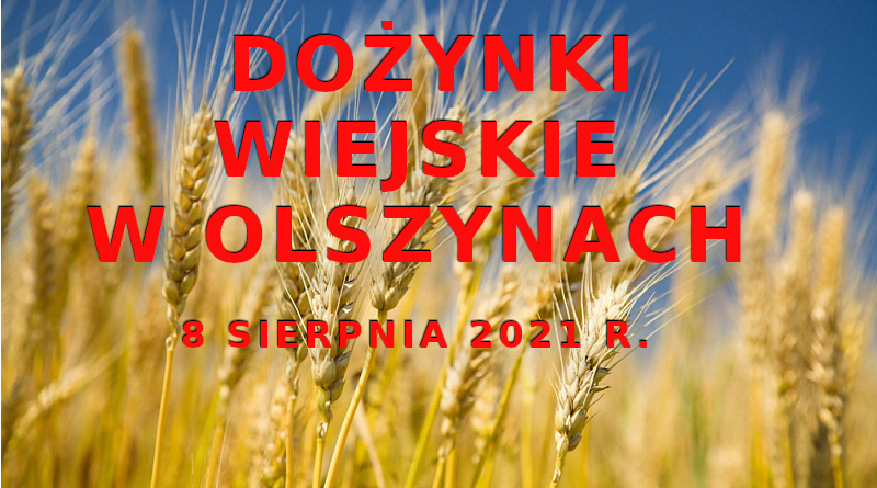 Zapraszamy na Dożynki Wiejskie w Olszynach